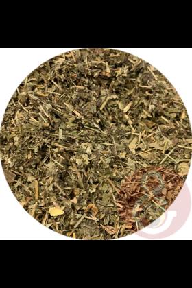 Aardbeiblad kan gedroogd gegeven worden door de chop of het kan gebruikt worden om drinkwater van te trekken (thee).
