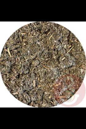 Frambozenblad kan gedroogd gegeven worden door de chop of het kan gebruikt worden om drinkwater van te trekken (thee).