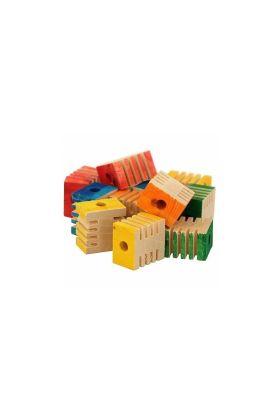 Deze Groovy Blocks zijn geweldige losse onderdelen om je bestaande papegaaienspeeltjes te vernieuwen of om zelf nieuwe speeltjes te maken.