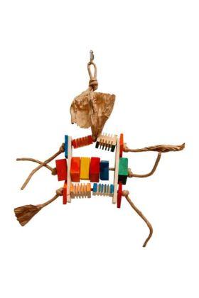Deze Zoo-Max Groovy Bonzo Medium is een kleurrijk houten speeltje met de bekende Groovy Blocks.