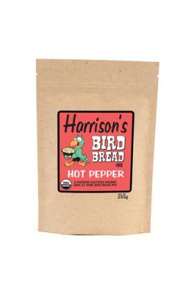 Harrison`s Bird Bread Mix Hot Pepper is een biologische bakmix waarmee je voor je vogel kan gaan bakken. Het enige wat je hoeft te doen is een ei, wat olie en wat water toe te voegen, mengen tot een glad deeg en vervolgens afbakken in de oven.