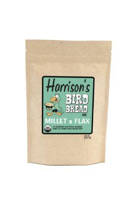 Harrison`s Bird Bread Mix Millet & Flax is een biologische bakmix waarmee je voor je vogel kan gaan bakken. Het enige wat je hoeft te doen is een ei, wat olie en wat water toe te voegen, mengen tot een glad deeg en vervolgens afbakken in de oven.