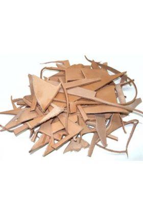 Deze lederen snippers van natuurlijk materiaal kan gebruikt worden voor het hervullen van bijvoorbeeld de Leatherbox of de Leather Pouch.