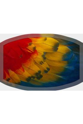 Mondkapje met unieke print (Ara (alleen veren))