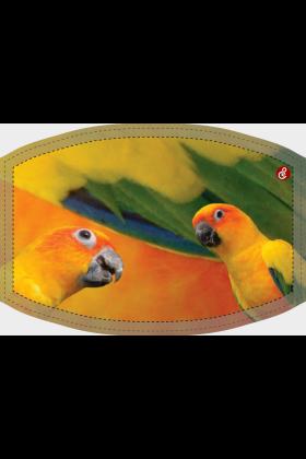 Deze niet-medische mondkapjes met een Zonparkiet design zijn herbruikbaar, wasbaar op 60 graden celcius en zijn vervaardigd van een polyester stof waardoor ze niet nat worden van vochtige adem.