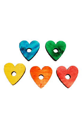 Pine Hearts Mix Color (10 stuks)