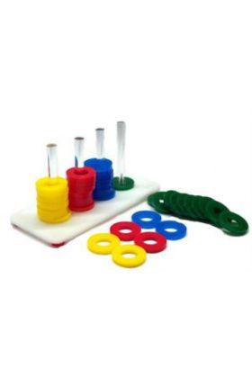 De Zoo-Max Rings Game is speeltje met gekleurde ringen van acryl, waarmee je jouw vogel spelenderwijs kan trainen.