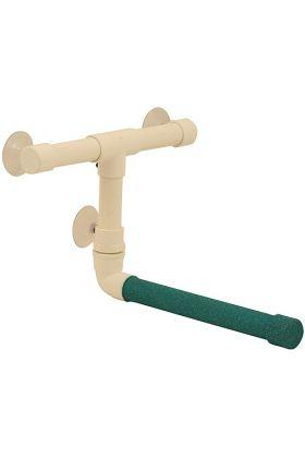 De Sandy Shower Perch Large is voor papegaaien zoals amazones, edelpapegaaien, grijze roodstaarten, kaketoes en Ara's.