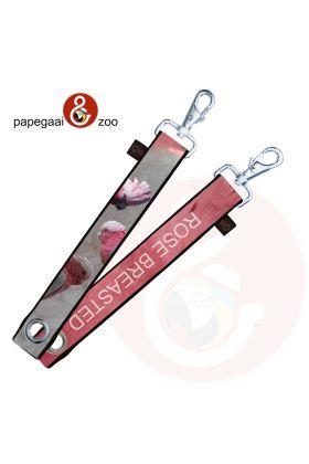 Stoere XL Sleutelhanger / Tassenhanger Rose Kaketoe