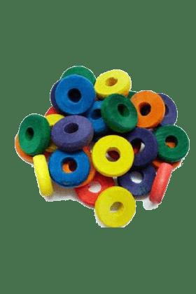 Wood Discs Mix Color (30 stuks)